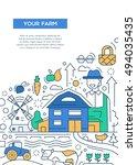 your farm   line design... | Shutterstock . vector #494035435