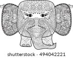 abstract cute elephant  with... | Shutterstock .eps vector #494042221