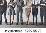 business team working research... | Shutterstock . vector #494043799