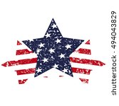 star symbol designed in the... | Shutterstock .eps vector #494043829