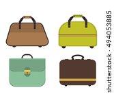 summer time travel bag set. | Shutterstock .eps vector #494053885