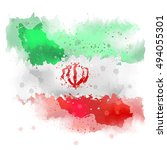 vectors map of iran watercolor... | Shutterstock .eps vector #494055301