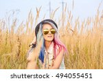 outdoor fashion portrait of... | Shutterstock . vector #494055451
