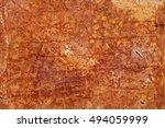 old rusty grunge metal wall ... | Shutterstock . vector #494059999