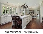 kitchen in luxury home with... | Shutterstock . vector #49406986