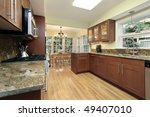 kitchen in suburban home with... | Shutterstock . vector #49407010