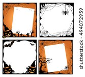 halloween photo frame design ... | Shutterstock .eps vector #494072959