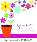 pretty floral scene | Shutterstock .eps vector #49407421