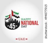 vector illustration united arab ... | Shutterstock .eps vector #494077015