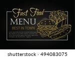 fast food design menu. vector... | Shutterstock .eps vector #494083075