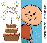 happy birthday design | Shutterstock .eps vector #494086189