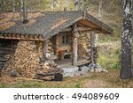 Old Wooden House In The Autumn...