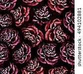 roses.seamless background....   Shutterstock . vector #494102881