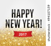 happy new year. gold glitter... | Shutterstock .eps vector #494107159