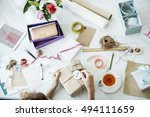 gift packing present creative... | Shutterstock . vector #494111659