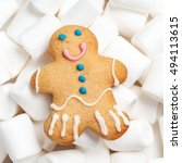 gingerbread man cookie and... | Shutterstock . vector #494113615