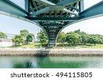 under a bridge in nagasaki city | Shutterstock . vector #494115805