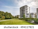 residential building in the city | Shutterstock . vector #494117821