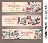 vector sketchy cosmetics...   Shutterstock .eps vector #494120521
