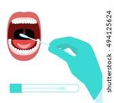 taking dna testing sample by... | Shutterstock .eps vector #494125624