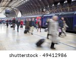 Commuters At Paddington Statio...