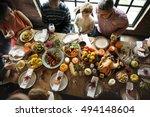 thanksgiving celebration... | Shutterstock . vector #494148604
