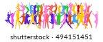 hurray team success concept    Shutterstock .eps vector #494151451