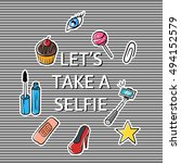 vector illustration of slogan ... | Shutterstock .eps vector #494152579