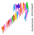 arrow made of vector... | Shutterstock .eps vector #494154649
