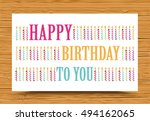 happy birthday background with... | Shutterstock .eps vector #494162065