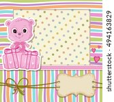 teddy bear for baby girl . baby ... | Shutterstock . vector #494163829