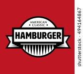 hamburger   american classic... | Shutterstock .eps vector #494164867