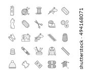 outline web icons   needlework  ... | Shutterstock .eps vector #494168071