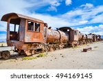 Old Rusty Railway Carriage Wit...