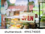 open sign broad through the... | Shutterstock . vector #494174005