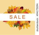 foliage sale banner | Shutterstock .eps vector #494175094