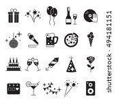 celebration icons set with... | Shutterstock .eps vector #494181151