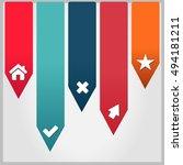 vector illustration of modern... | Shutterstock .eps vector #494181211