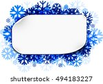 white winter sticker background ... | Shutterstock .eps vector #494183227