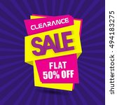 clearance sale with flat... | Shutterstock .eps vector #494183275