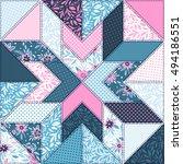 seamless pattern. patchwork. | Shutterstock .eps vector #494186551