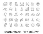 set vector line icons with open ... | Shutterstock .eps vector #494188399