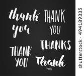 thank you lettering set   Shutterstock .eps vector #494189335
