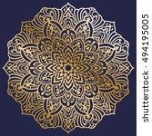 vector round abstract... | Shutterstock .eps vector #494195005