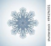 snowflake icon vector.... | Shutterstock .eps vector #494196331