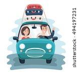 vector cartoon illustration of... | Shutterstock .eps vector #494197231