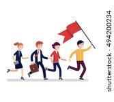 business leader holding big... | Shutterstock .eps vector #494200234