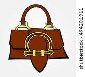 handbag | Shutterstock .eps vector #494201911