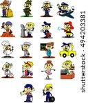 cartoon illustration employment ... | Shutterstock .eps vector #494203381
