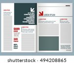 modern magazine template | Shutterstock .eps vector #494208865